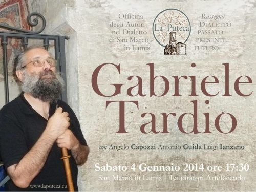 Incontri sugli Autori: Gabriele Tardio (1954-2013)