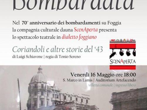 Gli ScenAperta e il ricordo dei bombardamenti su Foggia